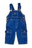 Bright dark blue children's jeans Stock Photography