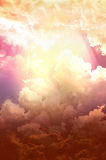 Bright and dark clouds. Apocalypse armageddon astrology background cataclysm catastrophe royalty free stock image