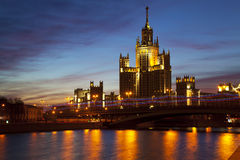 Bright dawn over Moscow. Russia Royalty Free Stock Images