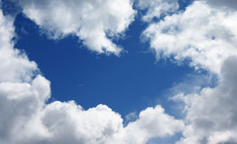 Bright day. Blue sky royalty free stock images