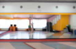 Bright day. Blurring background fitness room Stock Images