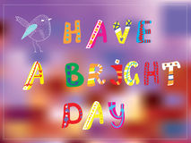 Bright day funny card for good mood Royalty Free Stock Images