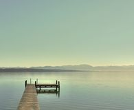Bright day at the lake Stock Image