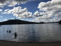 A Bright day at the Lake. Bright day at the lakes of Canberra Royalty Free Stock Image