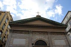 Roman architecture masonry structure catholic church Of Napoli, Italy Stock Photography