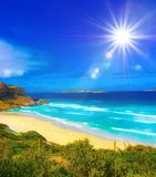 West Beach in Western Australia. A bright day on the west beach in Western Australia stock photography