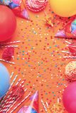 Bright decor for a birthday, party Stock Photo