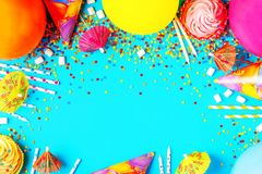 Bright decor for a birthday, party. Festival or carnival Royalty Free Stock Photography