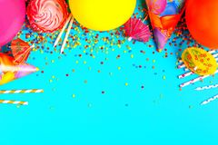 Bright decor for a birthday, party. Festival or carnival Royalty Free Stock Image