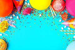 Bright decor for a birthday, party. Festival or carnival Stock Photography