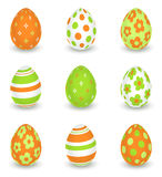 Bright decorated easter eggs Stock Photo