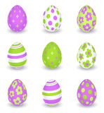 Bright decorated easter eggs Stock Image