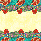 Bright decorative background in folk style Royalty Free Stock Photography