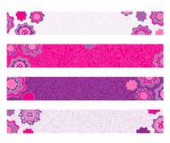Bright decorative floral banners Royalty Free Stock Images