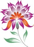 Bright decorative flower Royalty Free Stock Images