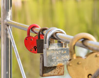 Bright decorative lock royalty free stock image