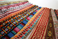 Bright decorative ribbons. Bright decorative jacquard different Stock Photo