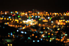 Bright defocused colored lights Royalty Free Stock Photos