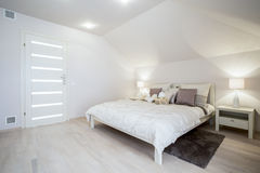 Bright delicate bedroom Stock Photography
