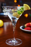 Bright delicious glass of cold martinis with Stock Photography