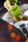 Bright delicious glass of cold martinis with Stock Image
