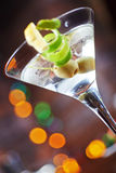 Bright delicious glass of cold martinis with Stock Images