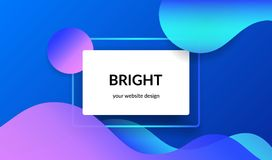 Bright design for corporate and personal website abnners and presentation slides. Stock Image
