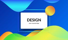 Bright design for corporate and personal website abnners and presentation slides. Royalty Free Stock Photos