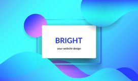 Bright design for corporate and personal website abnners and presentation slides. Royalty Free Stock Images