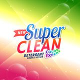 Bright detergent product packaging concept design Stock Image