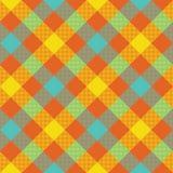Bright diagonal checkered plaid seamless pattern Stock Photos