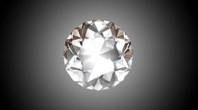 Bright Diamond - 3D Illustration Royalty Free Stock Photo