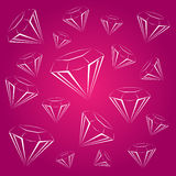 Bright diamond logo Royalty Free Stock Photography