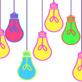 Bright different colored lights Royalty Free Stock Photos