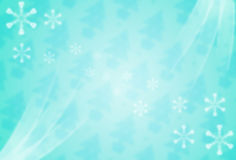 Bright digital background with white snowflakes Royalty Free Stock Photo