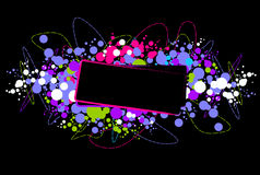Bright disco frame. Abstract disco frame, vector illustration, AI file included Stock Images