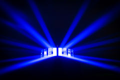 Bright disco lights and lasers Royalty Free Stock Image