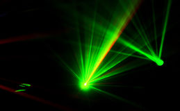 Bright disco lights and lasers Stock Photos