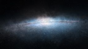 Bright disk galaxy Royalty Free Stock Photo