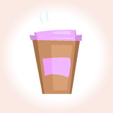 Bright disposable coffee cup Stock Photos