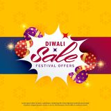 Bright diwali sale and discount poster design with crackers. Vector Stock Photos