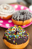 Bright donut on the plate Stock Photo