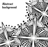 Bright doodle abstract vector backdrop. Decorative Stock Image