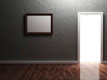 Bright doorway and the picture Stock Images