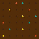 Bright dots on brown, seamless vector pattern Royalty Free Stock Images