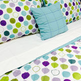 Bright dotted bed clothing Royalty Free Stock Image