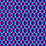 Bright dotted seamless pattern, red and blue circles. Bright dotted seamless pattern with red and blue circles. Colorful infinite transparent background, rounded Stock Image