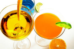 Bright drink group Royalty Free Stock Image