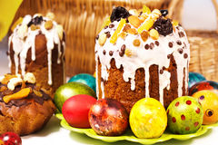Bright Easter Cakes Stock Photography