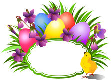 Bright Easter congratulatory teg. Stock Image
